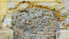 Bricks repaired cement wall Royalty Free Stock Photos