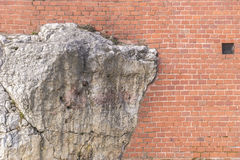 Bricks and rocks Stock Photography