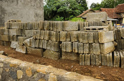 Bricks and rocks as materials for construction photo taken in Bogor Indonesia Stock Image