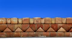 Bricks roof eaves Mediterranean architecture Stock Image