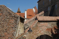 Bricks roofs Stock Images