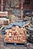 Bricks in scrap yard Stock Image