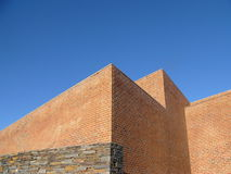 Bricks and Sky. The walls of the wonderful Hector Peterson Museum in Soweto South Africa Stock Image