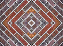 Bricks squared background. Close up to bricks texture Royalty Free Stock Images