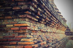 Bricks. Stack of old bricks under ancient pagoda Stock Photos
