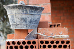 Bricks stacked Royalty Free Stock Photography