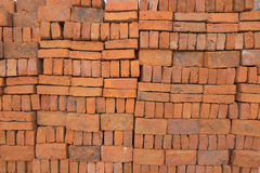 Bricks stacked /Bricks background Royalty Free Stock Photos