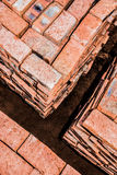 Bricks stacked in Squares Royalty Free Stock Photo