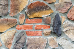 Bricks in a Stone Wall Royalty Free Stock Photo