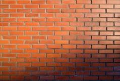 Bricks and sunset. Wall, orange bricks and sunset royalty free stock photos