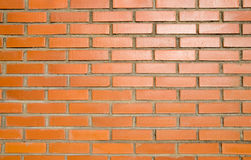 Bricks and sunset. Wall, orange bricks and sunset stock images