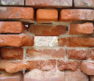 Bricks Texture. Bricks wall texture with hole Stock Photos