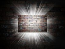 Bricks texture of business card 3d presentation Stock Photography