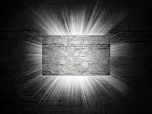 Bricks texture of business card 3d presentation Royalty Free Stock Images
