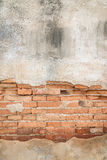 Bricks texture  covered with old concrete background Stock Image