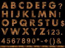 Bricks texture font Royalty Free Stock Photos