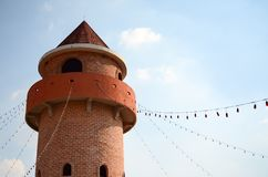 Bricks tower in The Verona Tublan at Thailand Royalty Free Stock Photo
