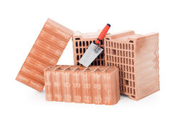 Bricks and trowel Stock Image