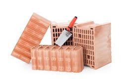 Bricks and trowel Stock Image
