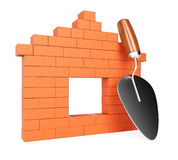 Bricks and trowel Royalty Free Stock Photo