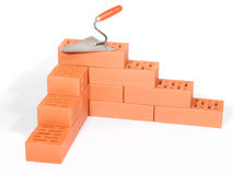 Bricks and trowel Royalty Free Stock Image