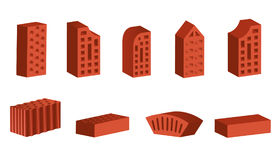 Bricks of various form Stock Images