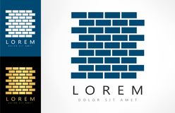 Bricks Vector Logo Royalty Free Stock Photo