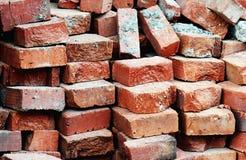 Bricks waiting to be used ... Close up royalty free stock photography