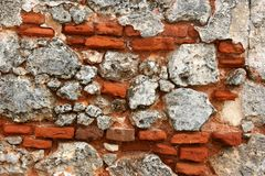 Bricks in a wall royalty free stock image