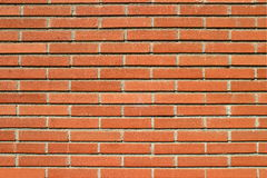 Bricks Wall. Red bricks wall with an ordinary pattern as a background Royalty Free Stock Image