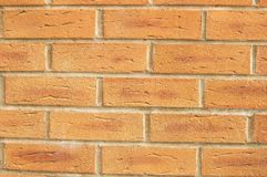 Bricks wall. With an ordinary pattern as a background royalty free stock photography