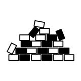 Bricks wall construction icon Royalty Free Stock Photography