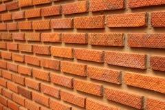 Bricks in the wall corner focus Stock Image