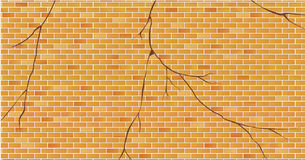 Bricks wall cracked. Vector illustration Bricks wall cracked Royalty Free Illustration