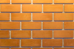 A bricks wall with finished color with light and shadow Royalty Free Stock Photo