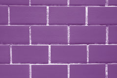 Bricks Wall in Lavender Purple and White Color, for Background. Texture, Pattern royalty free stock photography