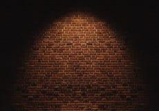 Bricks wall with light spot on center backgrounds Stock Photos