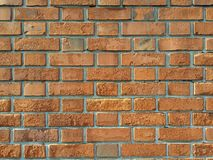 Bricks wall. Outdoor gap with cement for background texture Royalty Free Stock Photo