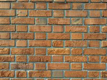 Bricks wall. Outdoor gap cement for background texture Stock Images