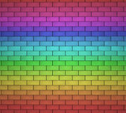 Bricks Wall Rainbow Background Stock Photos