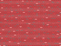 Bricks wall seamless texture. Abstract pattern; vector art illustration Stock Image