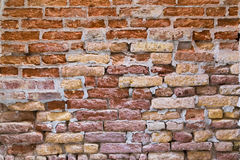 Bricks on a Wall in Venice Royalty Free Stock Photo