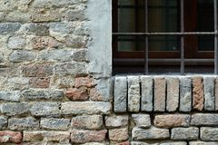 Bricks wall with window Royalty Free Stock Photography