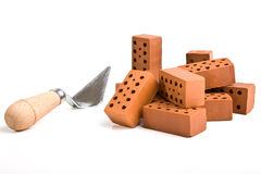 Bricks on white Royalty Free Stock Photos