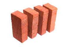Bricks On White Stock Photography