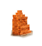 Bricks on white isolated background with clipping path. Stock Photos