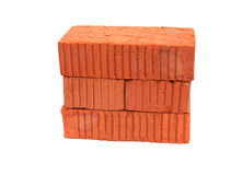 Bricks On White Royalty Free Stock Photography