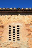 Bricks window in masonry wall ancient architecture Royalty Free Stock Image
