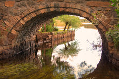 Brickstone bridge Royalty Free Stock Photography
