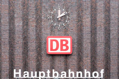 Brickstone facade main station of Duisburg in Germany Royalty Free Stock Images
